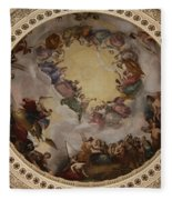 Ceiling Fresco - Cupola Capitol Washington Dc Fleece Blanket