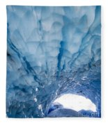 Jagged Ceiling Of Paradise Ice Cave Fleece Blanket