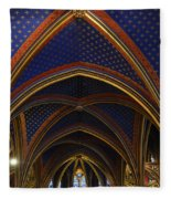 Ceiling Of The Sainte-chapelle  Paris Fleece Blanket