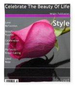 Celebrate The Beauty Of Life Fleece Blanket
