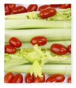 Celery And Tomatoes Fleece Blanket