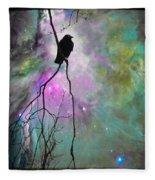 Celestial Dream Of Crow Fleece Blanket