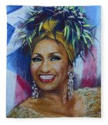 Celia Cruz Fleece Blanket