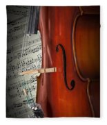 Cello Bridge And Beethoven Fleece Blanket