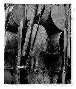 Cellos 6 Black And White Fleece Blanket