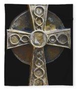 Celtic Cross Sepia Fleece Blanket