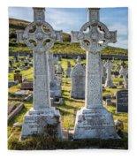 Celtic Crosses Fleece Blanket