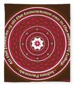 Celtic Lotus Mandala In Pink And Brown Fleece Blanket