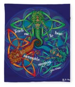Celtic Mermaid Mandala Fleece Blanket