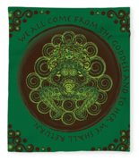 Celtic Pagan Fertility Goddess Fleece Blanket