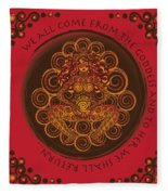 Celtic Pagan Fertility Goddess In Red Fleece Blanket