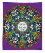 Celtic Spring Fairy Mandala Fleece Blanket