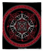 Celtic Vampire Bat Mandala Fleece Blanket