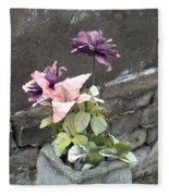 Cemetary Flowers 2 Fleece Blanket