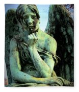 Cemetery Angel 2 Fleece Blanket