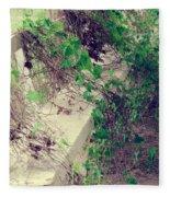 Cemetery Bench II Fleece Blanket