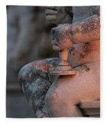 Cemetery Cherub - Hvar Croatia Fleece Blanket