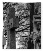 Cemetery Crosses Fleece Blanket