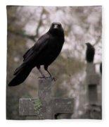 Cemetery Crows Fleece Blanket