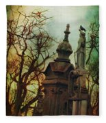 Cemetery Dusk Fleece Blanket