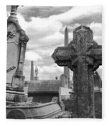 Cemetery Graves Fleece Blanket