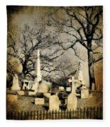 Cemetery Shades Fleece Blanket