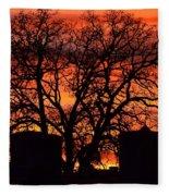 Cemetery Sunset Fleece Blanket