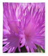 Centaurea From The Sweet Sultan Mix Fleece Blanket