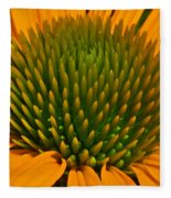 Center  Of Cone Flower Fleece Blanket
