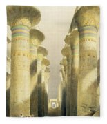 Central Avenue Of The Great Hall Of Columns Fleece Blanket