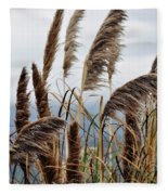Central Coast Pampas Grass Fleece Blanket