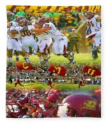 Central Michigan Football Collage Fleece Blanket