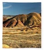 Central Oregon Painted Hills Fleece Blanket