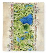 Central Park And All That Surrounds It Fleece Blanket