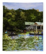 Central Park Boathouse Fleece Blanket