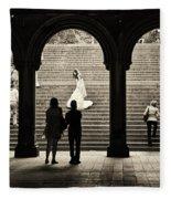 Central Park Bride Fleece Blanket