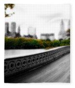 Central Park Bridge 2 Fleece Blanket