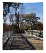 Central Park Bridge Shadows Fleece Blanket