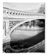 Central Park Bridges Bow Bridge Spanning Lake Fleece Blanket