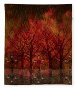 Central Park Ny - Featured Artwork Fleece Blanket