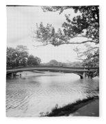 Central Park The Lake Fleece Blanket