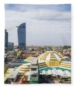 Central Phnom Penh In Cambodia Fleece Blanket