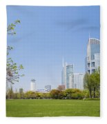 Central Shanghai In China Fleece Blanket