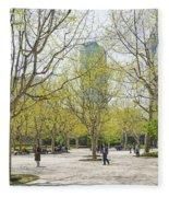 Central Shanghai Park In China Fleece Blanket