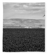 Central Washington, Usa. A Crop Duster Fleece Blanket