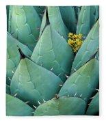Century Plant And Tiny Blossom Fleece Blanket