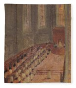 Ceremony Of Ordination At Lyon Cathedral Fleece Blanket
