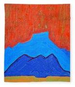Cerro Pedernal Original Painting Sold Fleece Blanket