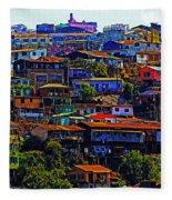 Cerro Valparaiso Fleece Blanket