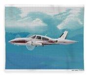 Cessna 310 Twin Engine Fleece Blanket